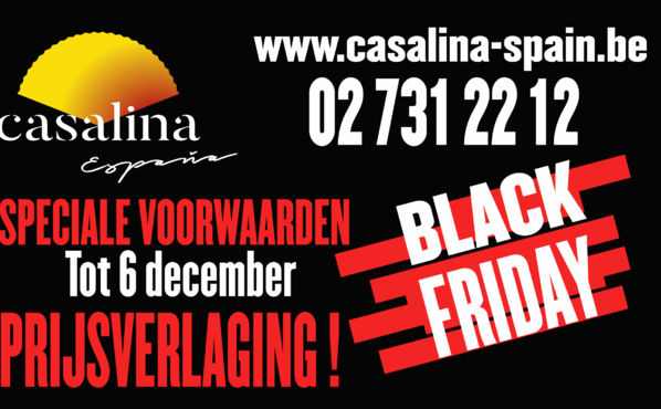 BLACK FRIDAY - SPECIALE VOORWAARDEN TOT 6 DECEMBER 2019